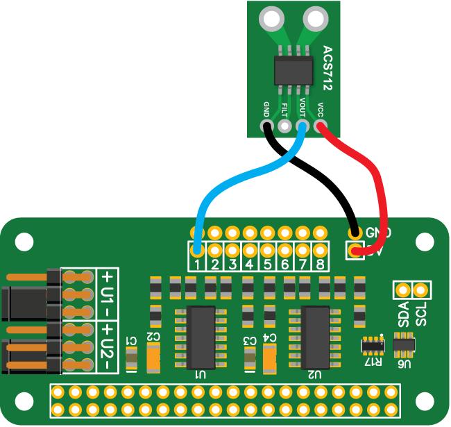 ADC Pi with ACS712 30 Amp current sensor