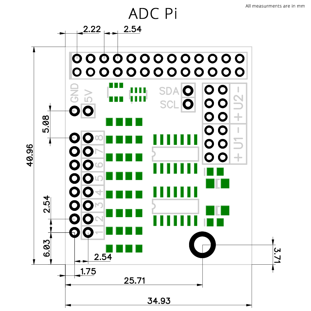 Adc Pi Information Wiringpi For Python Mechanical Drawing