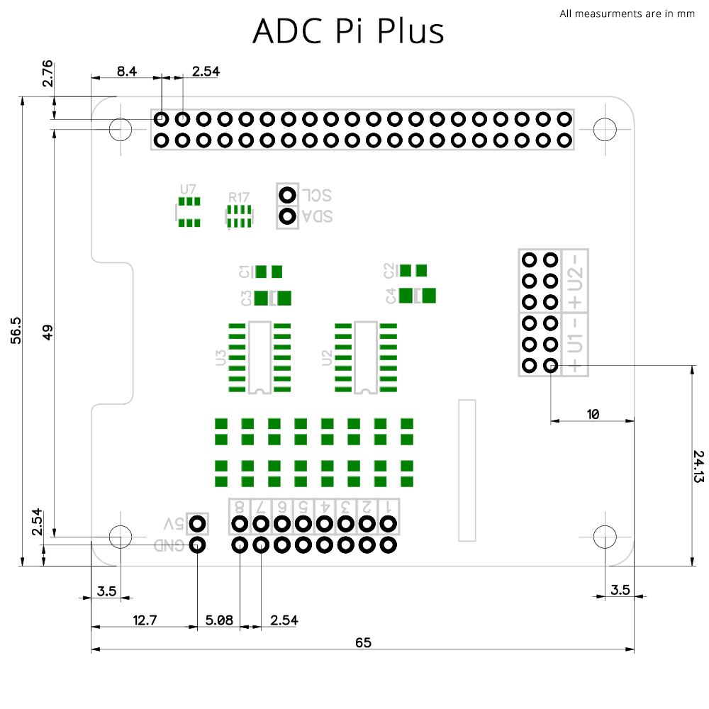 Adc Pi Plus Analogue To Digital Converter For The Raspberry 100ma Current Booster Circuit Diagram Tradeoficcom Mechanical Drawing