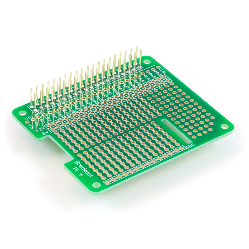 Prototyping board for Raspberry Pi model A+ and B+