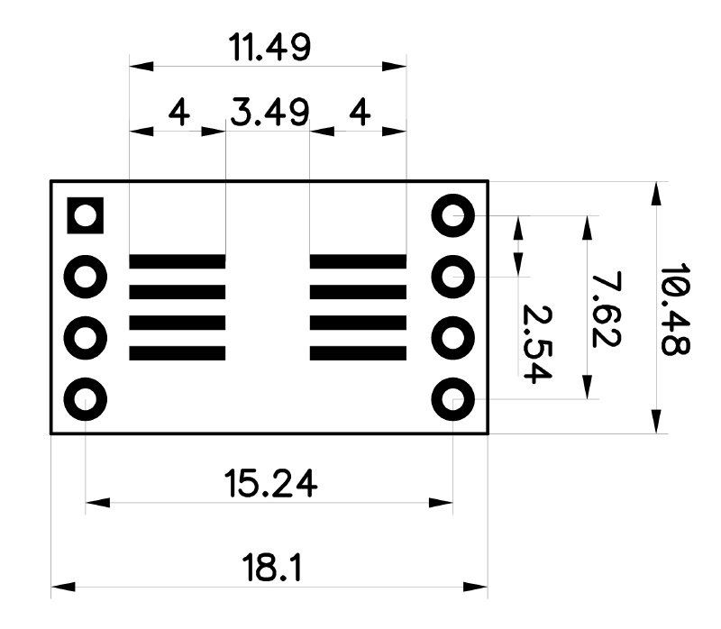 soic to dip adapter 8 pin from ab electronics