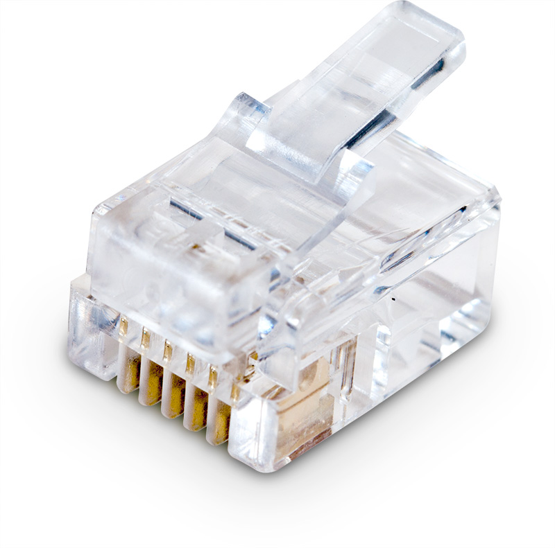 RJ12 Plug for flat cable